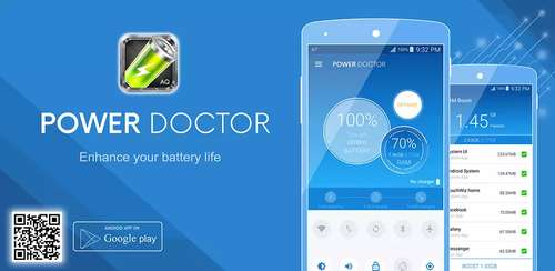 دانلود نرم افزار افزایش طول عمر باتری اندروید Power Doctor Saver Pro و شارژ سریع