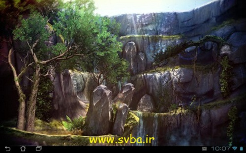 3D live wallpaper jungle waterfall pro android apk download -www.svba.ir 2