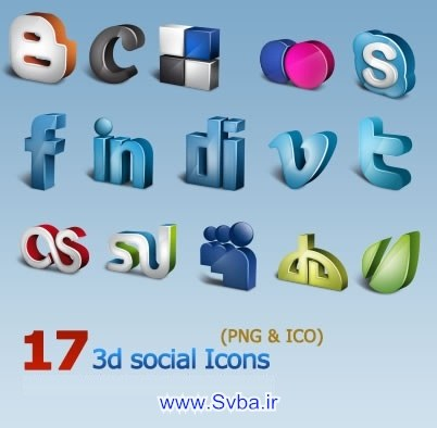 3d Social Icons png download free  www.svba.ir
