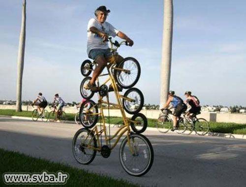 دوچرخه ای با 8 چرخ
