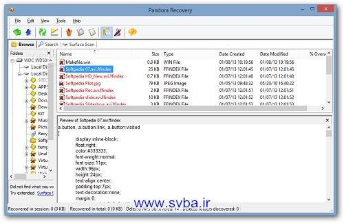 Pandora Recovery download free software www.svba.ir
