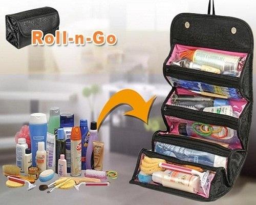خرید اینترنتی کیف لوازم آرایشی رولی جادار Roll n Go